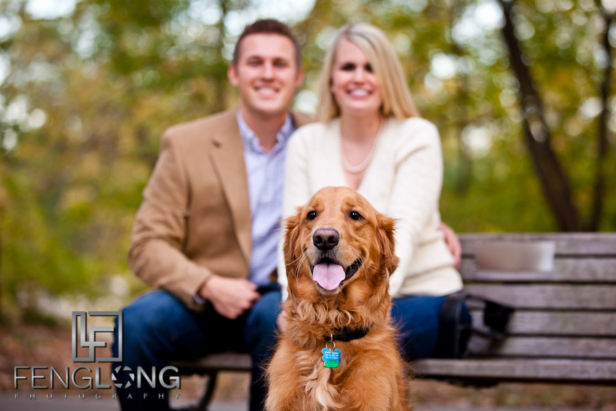 With the Dog Too! | Michelle & Blake's Engagement Session | Piedmont Park | Atlanta Wedding Photographer