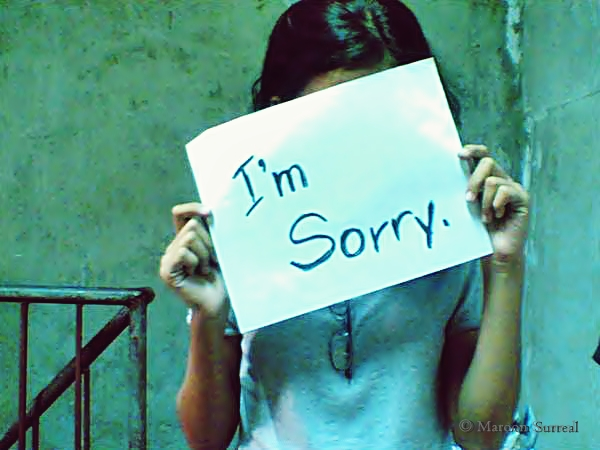 I'm Sorry. Photo: Leyram Odacrem