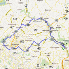 wc-09. Bike Route Map. Washington Crossing State Park.