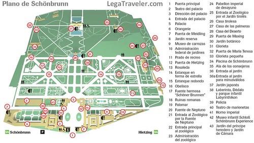 Plano Palacio Schonbrunn