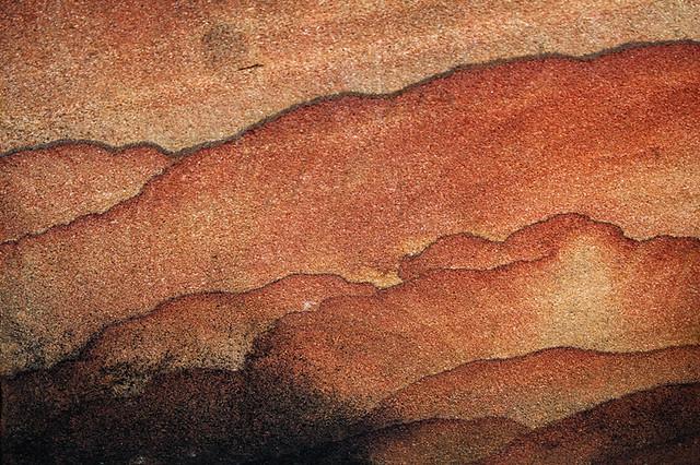 Beautiful pattern on a sand stone slab