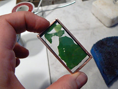 Soldered wax pendant experimentation 1