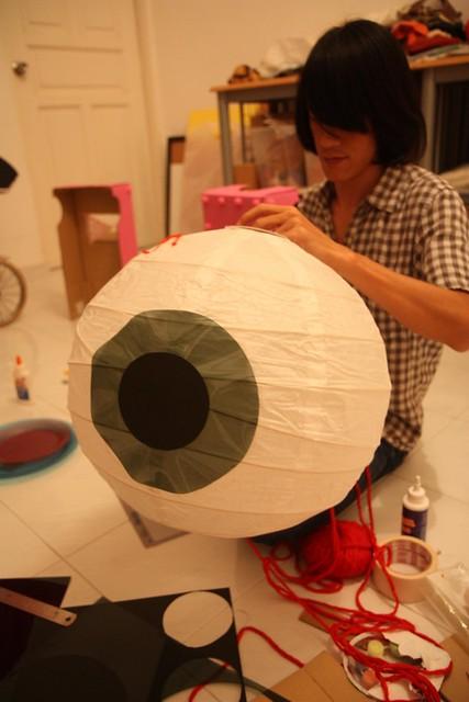 the making of giant eyeball