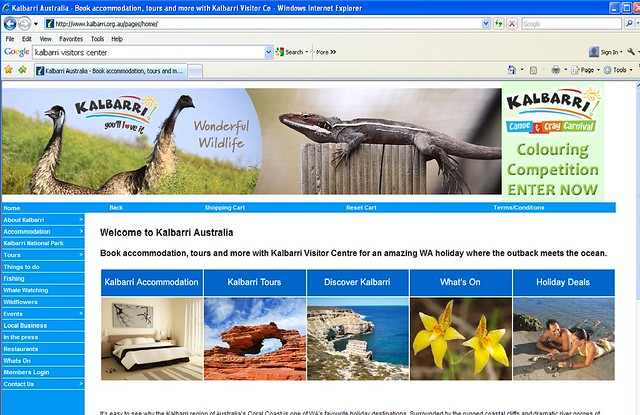 My Photo's in the heading on the Kalbarri visitors center website