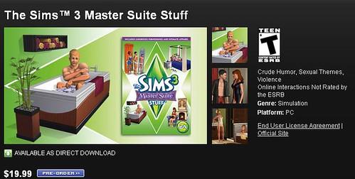 Pre-Order The Sims 3 Master Suite Stuff via Origin  and GameStop TODAY!