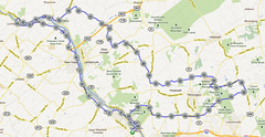 wc-18. Bike Route Map. Washington Crossing State Park.