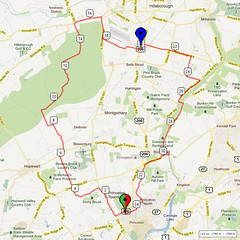 03. Bike Route Map. Princeton NJ