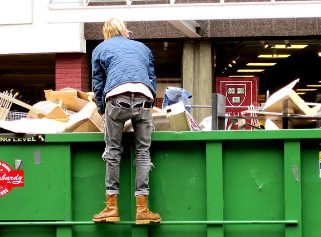 boston harvard square Dumpster diver