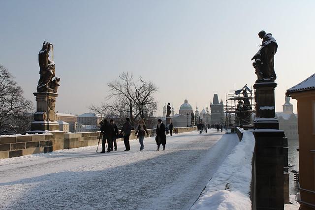 Snowy Karlův most