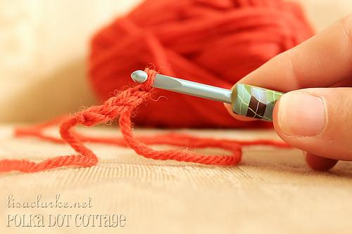 Polymer-covered crochet hook