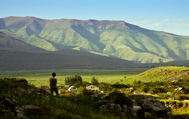 Looking out over Hrazdan valley