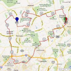 12. Bike Route Map. Princeton NJ