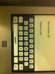 Kindle Touch Keyboard