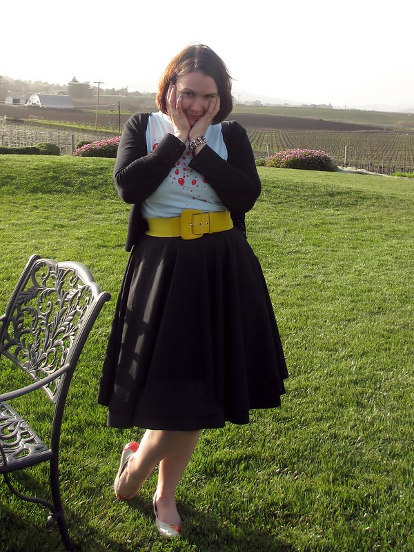 99 Luftballons, a wide yellow belt, and a full skirt. (Photo by Pat Zimmerman.)