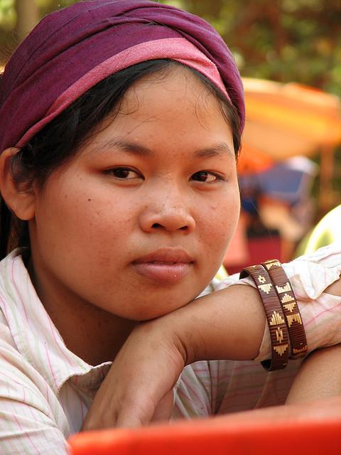 A shopkeeper in Siem Reap