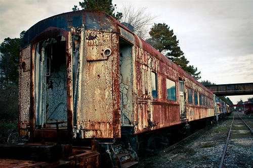 Decaying train car