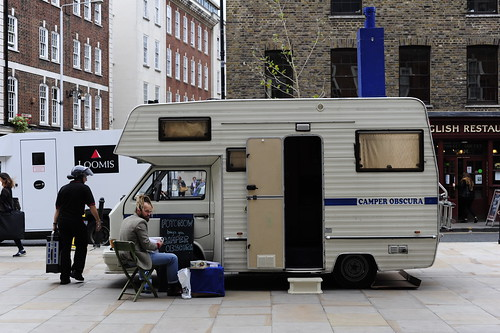 Camper Obscura at Spittalfields for PhotoFair 2011