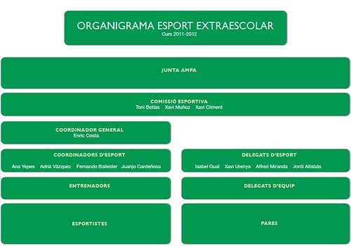 organigrama esport extraescolar