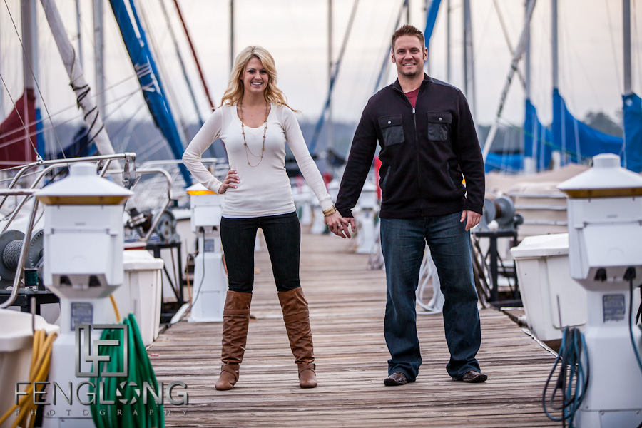 Leslie & Phil's Engagement Session | Sunrise Cove Marina | Lake Lanier Wedding Photographer