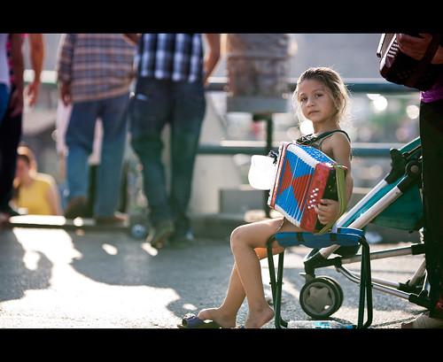 The little girl accordionist