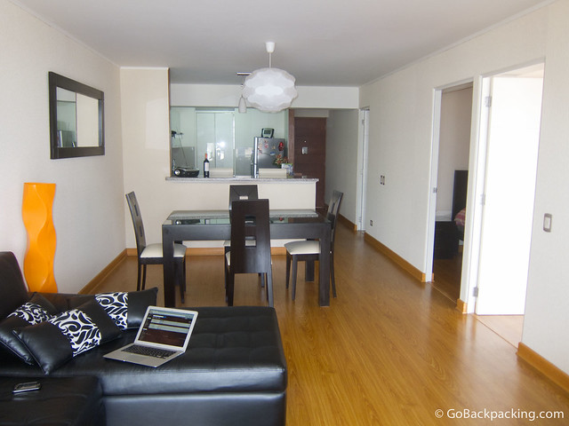 $630 per week will get you a luxury, 2-bedroom apartment on Avenida Larco in Miraflores
