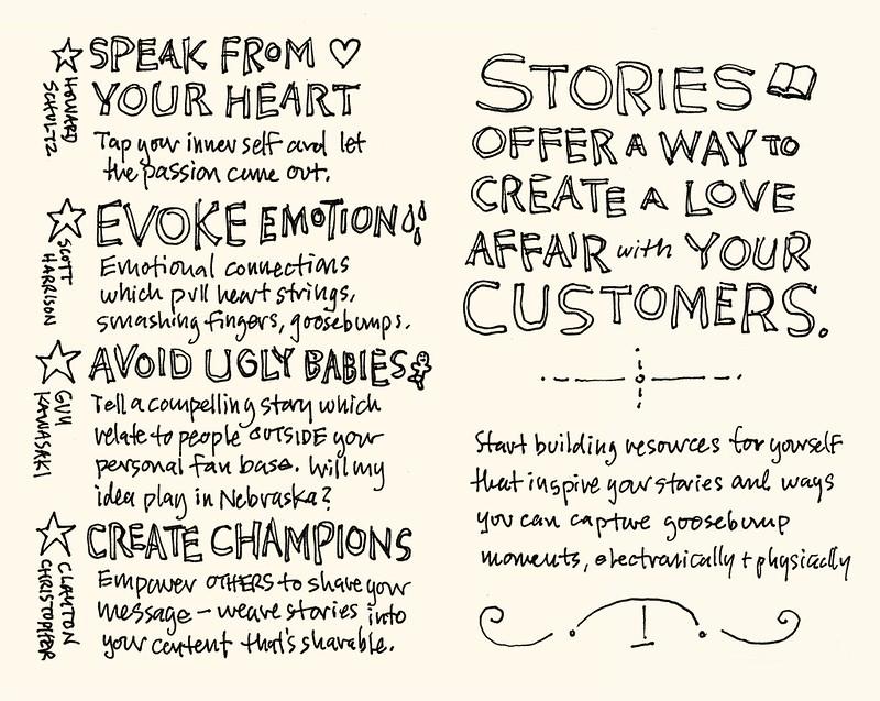 SXSW 2012 Sketchnotes: 07-08 Storytelling for Entrepreneurs