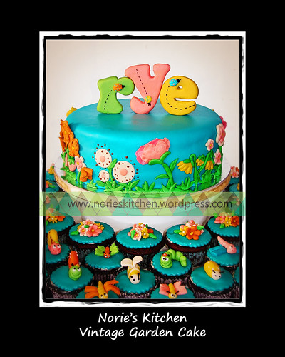 Norie's Kitchen - Vintage Garden Cake by Norie's Kitchen