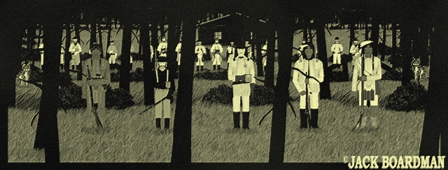Blackmon's Army on the west side of the cabin ©2012 Jack Boardman