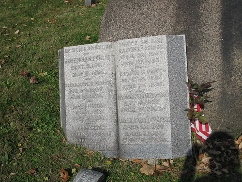 Grave of Elizabeth Forrer Peirce in Woodland Cemetery, Section 77