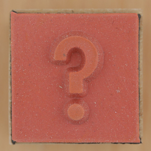 Rubber Stamp question mark by Leo Reynolds