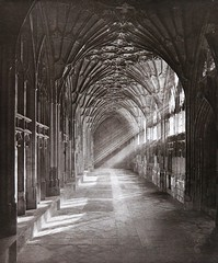 A Sunlit Cloister, 1907, by S.G. Kimber
