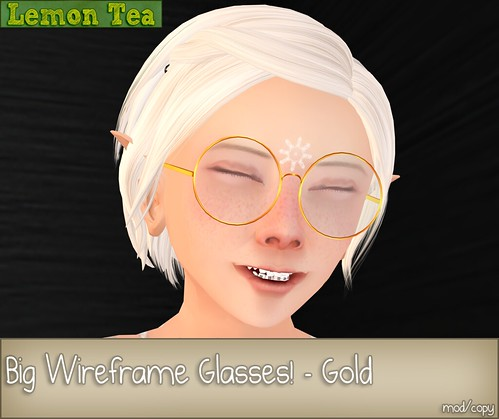 {Lemon Tea} Big Wireframe Glasses by Sei Minuet / {Lemon Tea}