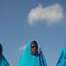 Somali Women Attend Ceremony for Deceased President