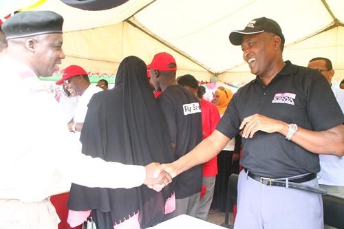 Dr. Karau AHF Kenya, Country director with a Administrative staff