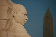 MLK Jr Memorial with Washington Monument