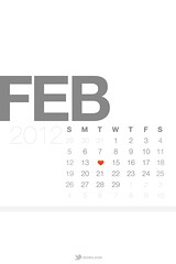 February 2012 Lock Screen Calendar Wallpaper W...