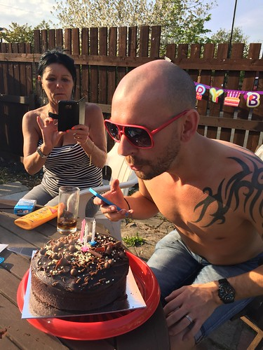Today is all about...David's birthday BBQ