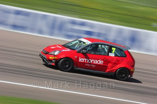 Cameron Pugh in Fiesta Junior Racing during the BRSCC Weekend at Rockingham, May 2016