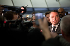 Giorgio Mammoliti speaks to reporters