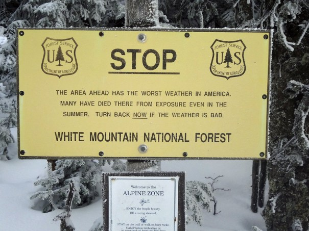 Mt. Adams U.S. Forest Service Sign