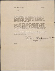 Petition from Carrie Chapman Catt of the Natio...
