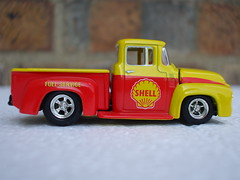 Hot Wheels Red & Yellow 1956 Ford F-100 Step-side Shell Service Pick Up