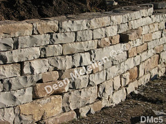 WM Dean Mclellan 5, Retaining wall, dry laid stone construction, copyright 2014