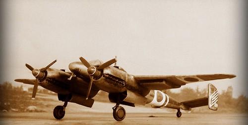 manshu mansyu ki ki53 ija wwii luft 1946 luft46 172 plastic kit whif whatif modellbau dizzyfugu scratch sentai chutai fictional aviation propeller fighter ki45 japanese army air force mottled hikoki