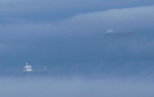 Fogbound ships , Gibraltar