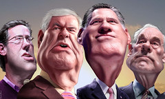 GOP Florida Four  - Caricatures