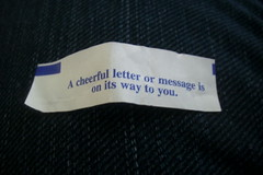 Cheerful letter/message
