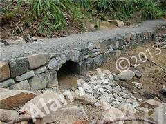 WM AA11, Alan Ash, Arch, Spencer's Butte Trail, dry laid stone construction, copyright 2014