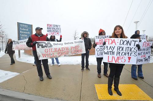 AIDS Healthcare Foundation Protests Outside FDA