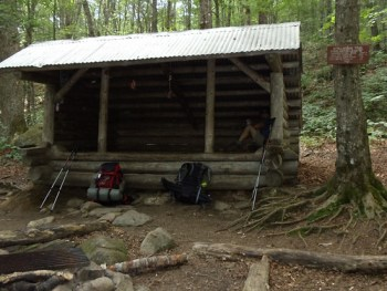 Frye Notch Shelter on the Maine Appalachian Trail